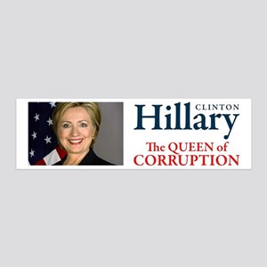 HILLARY THE QUEEN 36x11 Wall Decal