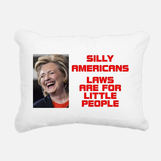HILLARY LITTLE PEOPLE Rectangular Canvas Pillow