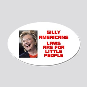 HILLARY LITTLE PEOPLE 20x12 Oval Wall Decal