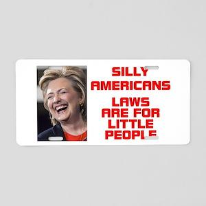 HILLARY LITTLE PEOPLE Aluminum License Plate