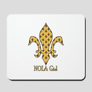 NOLA Girl Fleur de lis (gold) Mousepad