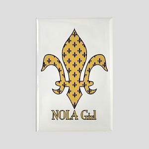 NOLA Girl Fleur de lis (gold) Rectangle Magnet