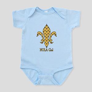 NOLA Girl Fleur de lis (gold) Infant Bodysuit
