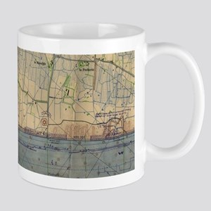 Vintage Utah Beach D-Day Invasion Map (1944) Mugs