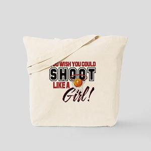 Basketball - Shoot Like a Girl Tote Bag