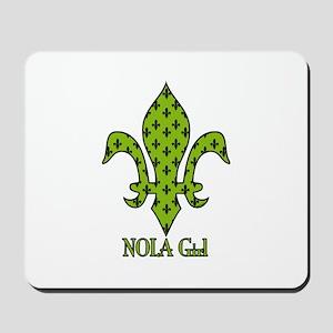 NOLA Girl Fleur de lis (green) Mousepad