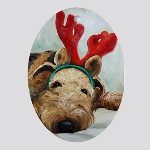 Airedale DOG Oval Ornament