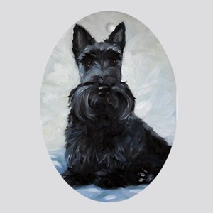 Scottish Terrier DOG Oval Ornament