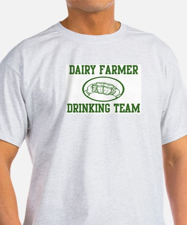 Dairy Farmer Drinking Team T-Shirt