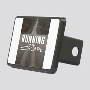 Running Is My Escape Rectangular Hitch Cover
