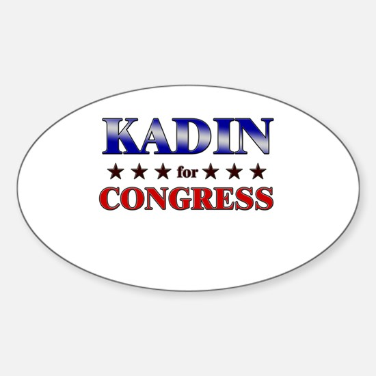 KADIN for congress Oval Decal