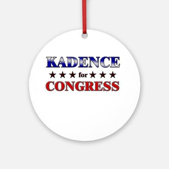 KADENCE for congress Ornament (Round)