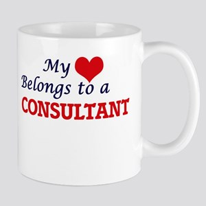 My heart belongs to a Consultant Mugs