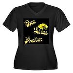 Bee Lives Matterwomen V-Neck Plus Size T-Shirt