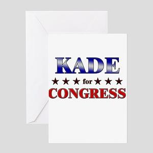 KADE for congress Greeting Card