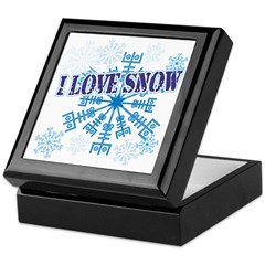 I Love Snow Keepsake Box