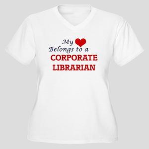 My heart belongs to a Corporate Plus Size T-Shirt
