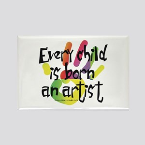 Every Child is an Artist Rectangle Magnet