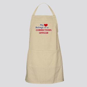 My heart belongs to a Corrections Officer Apron