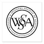 """WSSA Seal Square Car Magnet 3"""" x 3"""""""