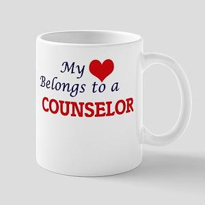 My heart belongs to a Counselor Mugs