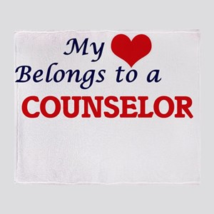My heart belongs to a Counselor Throw Blanket