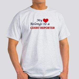 My heart belongs to a Court Reporter T-Shirt