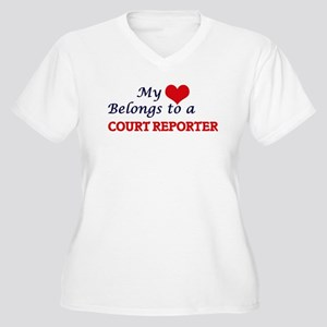 My heart belongs to a Court Repo Plus Size T-Shirt