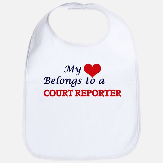My heart belongs to a Court Reporter Bib