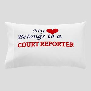 My heart belongs to a Court Reporter Pillow Case