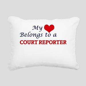 My heart belongs to a Co Rectangular Canvas Pillow