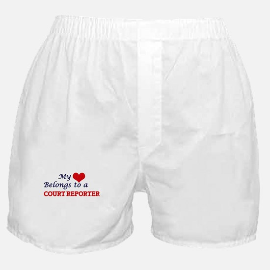 My heart belongs to a Court Reporter Boxer Shorts