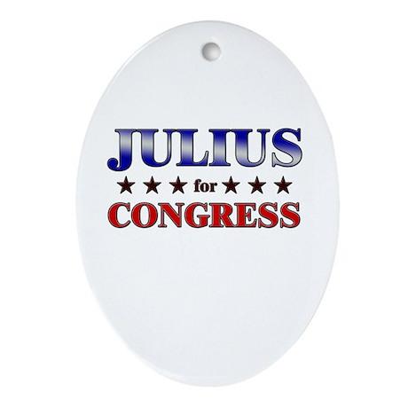 JULIUS for congress Oval Ornament