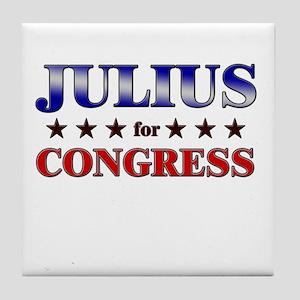 JULIUS for congress Tile Coaster