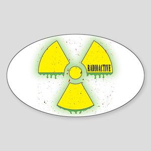 Radioactive Oval Sticker