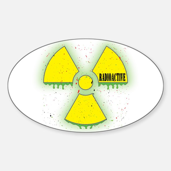 Radioactive Oval Decal