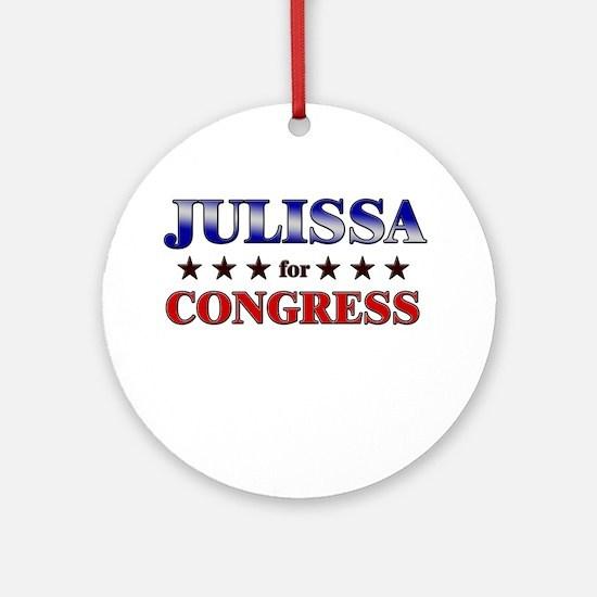 JULISSA for congress Ornament (Round)