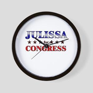 JULISSA for congress Wall Clock