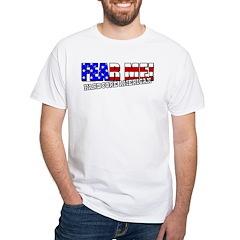 Fear Me! Hardcore American White T-Shirt