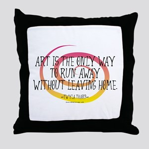 Runaway Artist II Throw Pillow