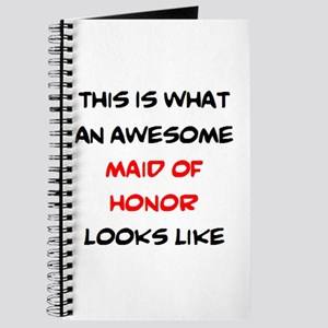 awesome maid of honor Journal