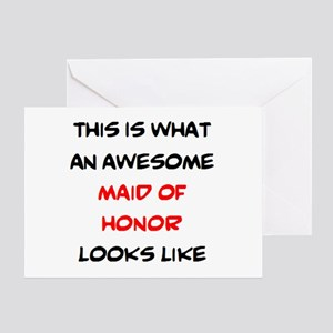 awesome maid of honor Greeting Card
