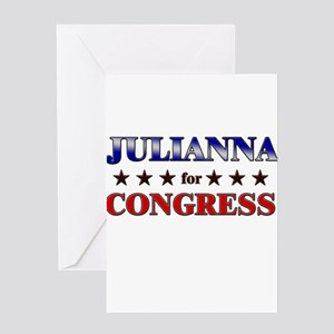 JULIANNA for congress Greeting Card