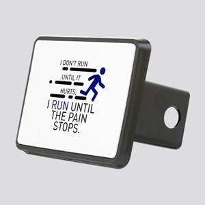 I Run Until The Pain Stops Rectangular Hitch Cover