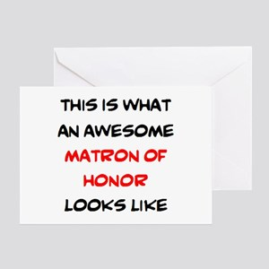 awesome matron of honor Greeting Card