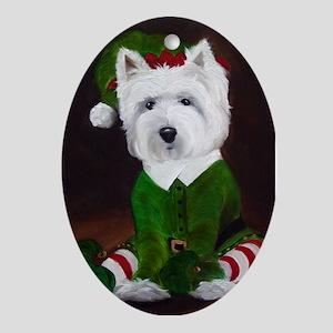 WESTIE DOG Oval Ornament
