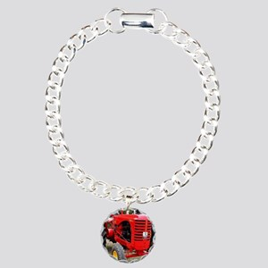 Old red tractor Charm Bracelet, One Charm