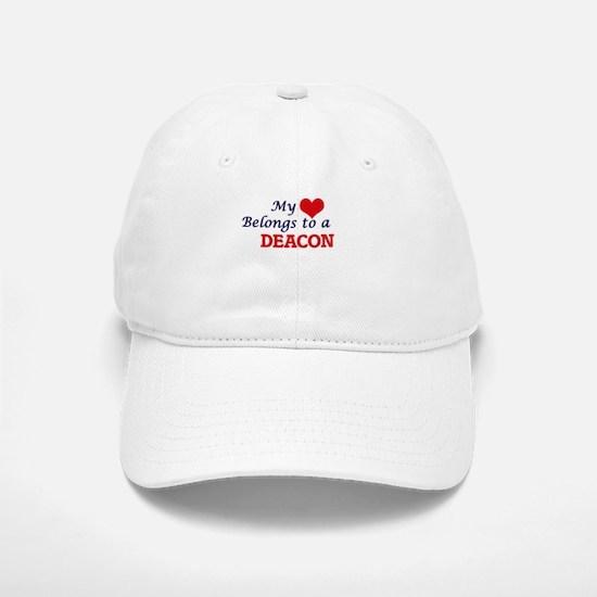 My heart belongs to a Deacon Baseball Baseball Cap