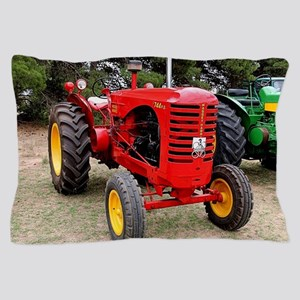 Old red tractor Pillow Case
