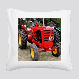 Old red tractor Square Canvas Pillow